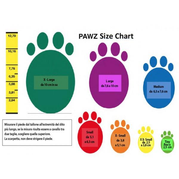 8fd38bbe19 Scarpette per cani Tiny in gomma Pawz PAWZ DOG BOOTS Protezioni-Per ...